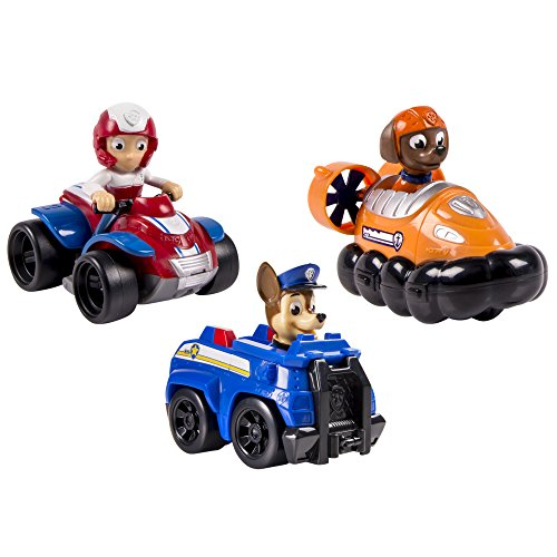 Spin Master 6024059 - Paw Patrol Rescue Racers  3-er Pack - Version 2  (Chase, Zuma, Ryder)
