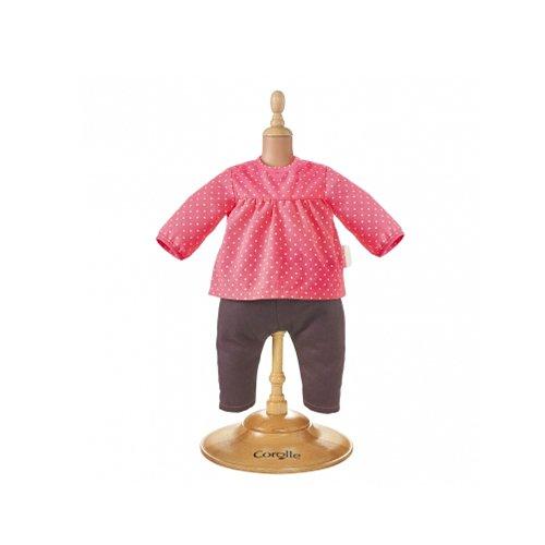 Corolle DMN14 - BB30 Bluse und Jeans Erdbeere für Puppe Mon Premier, 30 cm