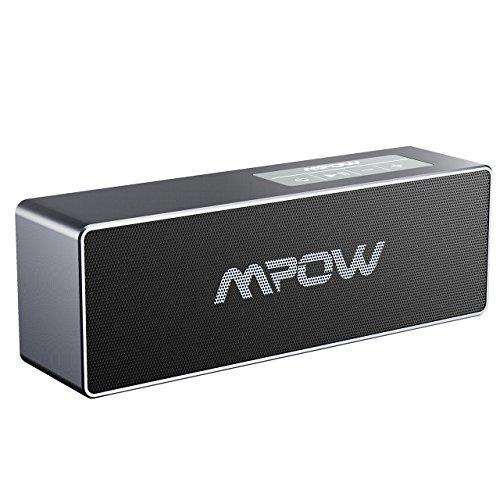 Mpow Bluetooth 4.1 Lautsprecher, Tragbarer Lautsprecher mit 10W Dual-Treiber und Verbesserte Bass, 8-Stunden Akkulaufzeit, eingebautes Mikrofon und 3.5mm Audio-Anschluss für iPhone, iPad, Samsung, Nexus, HTC und andere Android Geräte (Schwarz)