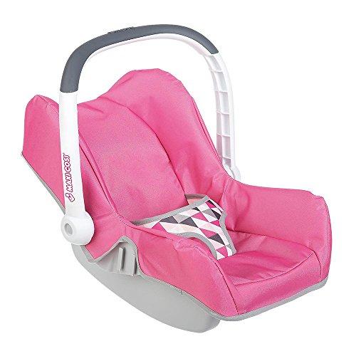 Smoby 7600240224 - Puppen-Autositz Maxi-Cosi, rosa/grau