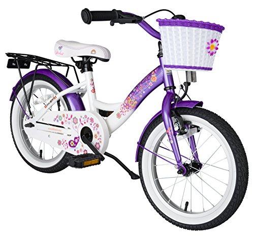 BIKESTAR® Premium Kinderfahrrad für sichere und sorgenfreie Spielfreude ab 4 Jahren ? 16er Classic Edition ? Candy Lila & Diamant Weiß