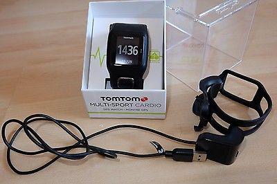TomTom GPS Sportuhr Multisport Cardio Integrierter Herzfrequenzmesser BLACK