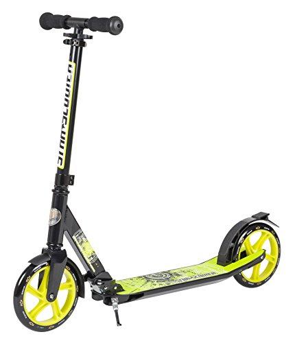 STAR-SCOOTER® Premium Design City Scooter Dein treuester Begleiter auch auf dem Schulweg ? 205mm Deluxe Cruising Edition ? Schwarz & Grün