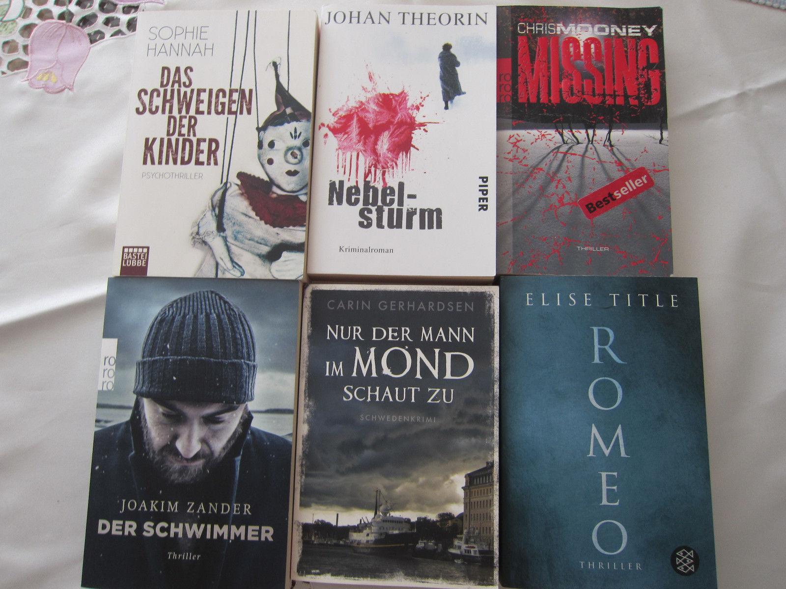 Bücherpaket 14 Krimis und Thriller-Anschauen!!!