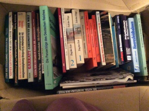 Einsenbahn Bücher Eisenbahnbücher Konvolut 2 Kartons