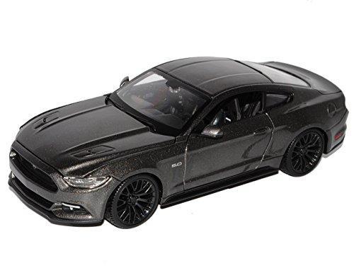 Ford Mustang VI Coupe Grau Ab 2014 1/24 Maisto Modell Auto mit individiuellem Wunschkennzeichen