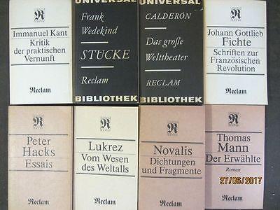 96 Bücher Taschenbücher Reclam Verlag