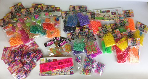 Loom Master Set 13000 Loom Ringe + 780 Perlen + 600 S-Clips (Preis gilt für alle 49 Packungen!!)
