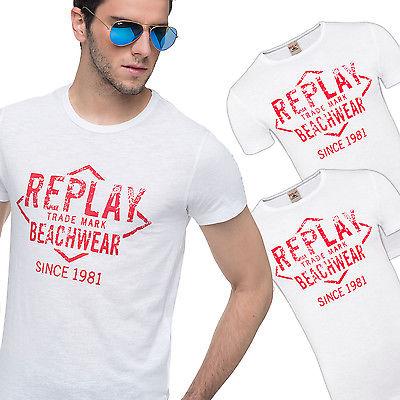 3er Pack Replay T-Shirts, Herren, weiß