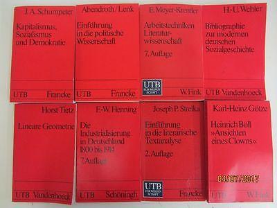 62 Bücher Taschenbücher UTB Uni Taschenbücher für Wissenschaft