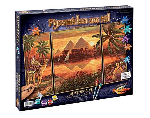 Schipper 9260442 - Malen nach Zahlen - Pyramiden am Nil, 50x80 cm