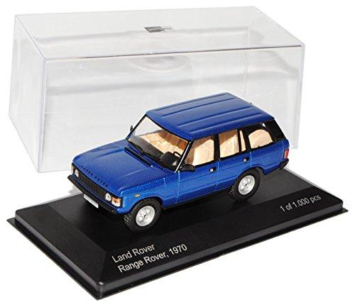 Land Rover Range Rover Classic Blau 1. Generation 1970-1995 1/43 Whitebox Modell Auto mit individiuellem Wunschkennzeichen