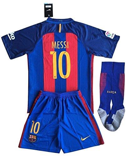 Barcelona Messi # 10Fußball Trikot Set & Socken Kinder/Jugendliche 9–10Jahren
