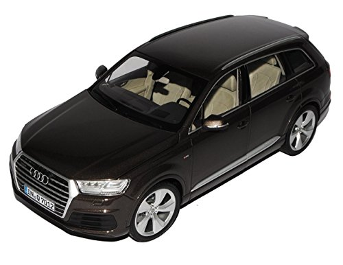 Audi Q7 2. Generation Argus Braun Schwarz Ab 2015 1/18 Minichamps Modell Auto