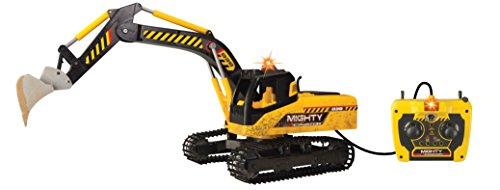 Dickie Toys 203729000 - Mighty Excavator, kabelgesteuerter Schaufelbagger, 70 cm