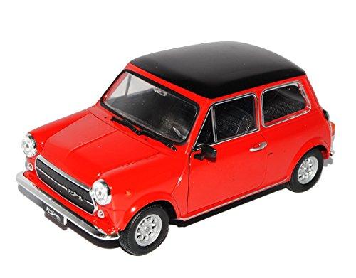 Mini Cooper Ur Modell Rot Schwarz 1959-2000 1/24 Welly Modell Auto mit individiuellem Wunschkennzeichen