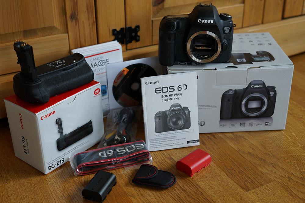 Canon EOS 6D inkl. Batteriegriff BG e13 und 2 Akkus 18k Auslöungen Zubehörpaket