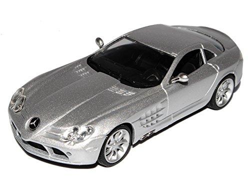 Mercedes-Benz SLR McLaren AMG Coupe Silber 2003-2009 1/43 Modellcarsonline Modell Auto mit individiuellem Wunschkennzeichen
