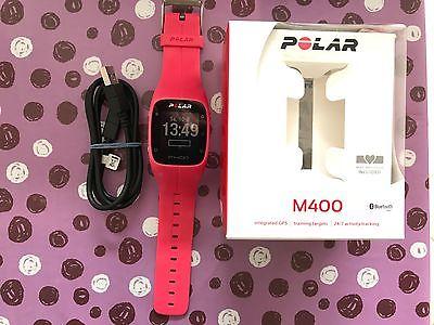 Polar M400 GPS-Laufuhr pink