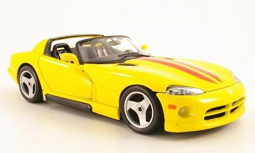 Dodge Viper RT/10, gelb/rot, 1993, Modellauto, Fertigmodell, Bburago 1:18