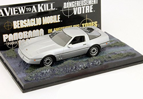 Chevrolet Corvette James Bond Movie Car Im Angesicht des Todes silber 1:43 Ixo