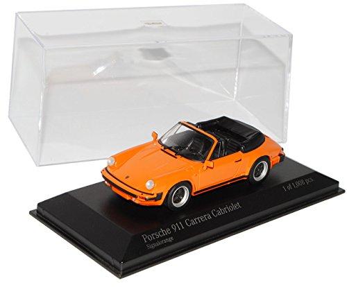 Porsche 911 G-Modell Carrera Cabriolet Orange 1973-1989 1/43 Minichamps Modell Auto