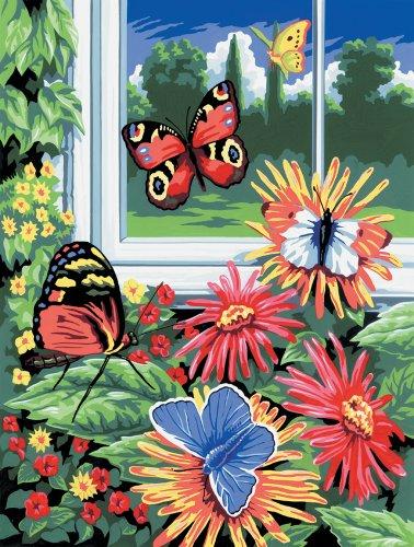 Royal & Langnickel PJS17 - Malen nach Zahlen Din A4 - Schmetterlinge