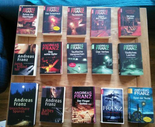 15 Andreas Franz Krimis, große Sammlung, Bücher, Urlaubslektüre