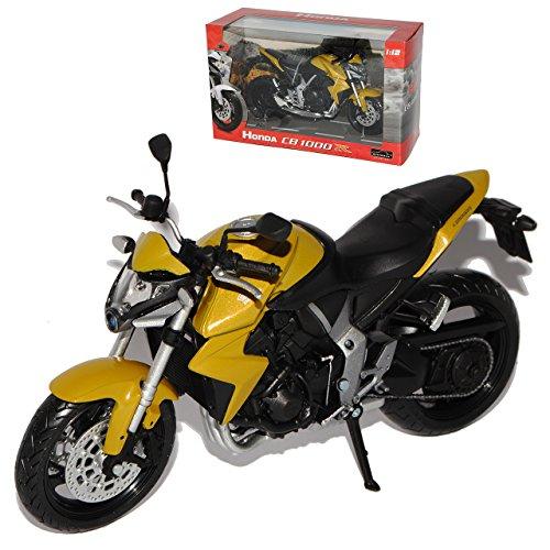 Honda CB1000R Gelb Gold Ab 2008 1/12 Automaxx Modell Motorrad Modell Auto