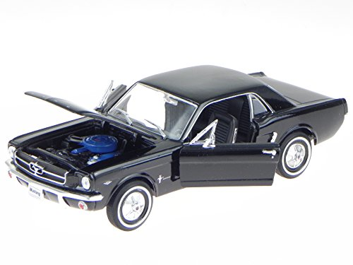 Ford Mustang Coupe 1964 schwarz Modellauto 22451 Welly 1:24