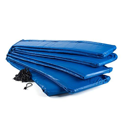 Ampel 24 Trampolin Randabdeckung | Ersatzteil reißfest & UV-beständig | Federabdeckung passend für Trampolin Ø 460 cm | Schutzrand blau