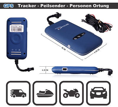 Mini Peilsender GPS Tracker Tracking System GSM GPRS SOS Alarm Motorrad KFZ Auto