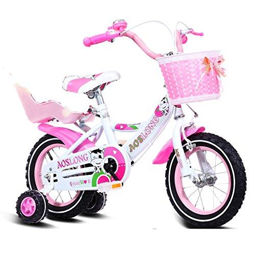 Guo Kind Fold Fahrrad 3-6-8 Jahre Old Baby Kinderwagen 12 Zoll 14 Zoll 16 Zoll 18 Zoll Bike ( Farbe : Pink 3 , größe : 12Inch )