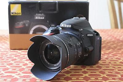 Nikon D D5500 24.2 MP SLR-Digitalkamera Kit mit  AF-S DX 18-55mm f3.5-5.6G VR II