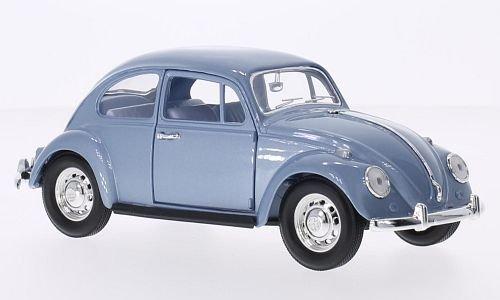 VW Käfer, metallic-hellblau, 1967, Modellauto, Fertigmodell, Lucky Die Cast 1:24