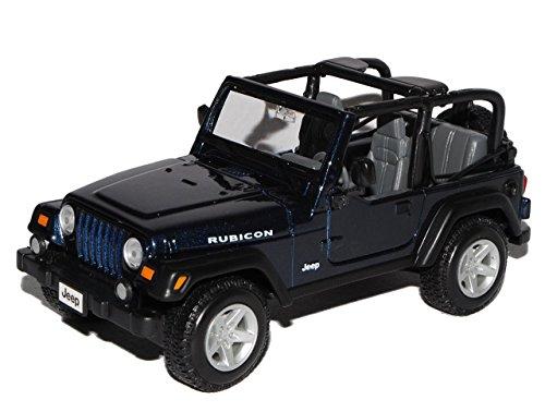 Jeep Wrangler Rubicon Blau 1/24 Maisto Modell Auto mit individiuellem Wunschkennzeichen