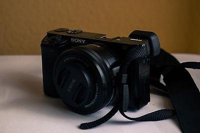 Sony alpha 6000+Tasche+Kit-Objektiv+Tele+ Festbrennweite+Akku Zubehörpaket!!