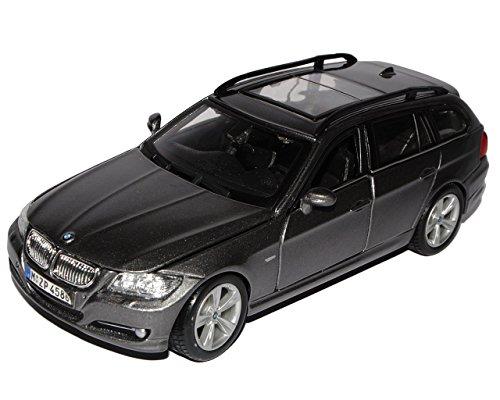 BMW 3er E91 Touring Silber Grau Kombi 2005-2013 18-22116 1/24 Bburago Modell Auto mit individiuellem Wunschkennzeichen