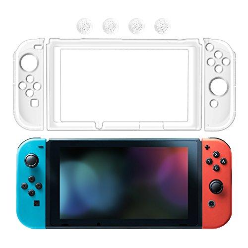 Nintendo Switch Hülle, Keten Komplette Bedeckung Kristall Hartrücken Hülle Anti-Kartzer Ultra-Dünn Schützende Hülle für Nintendo Switch (Durchsichtig)