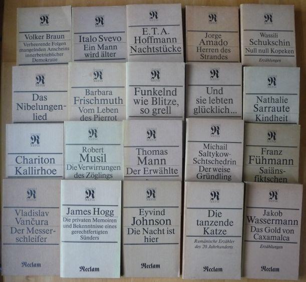 80 Reclam Taschenbücher DDR Sammlung