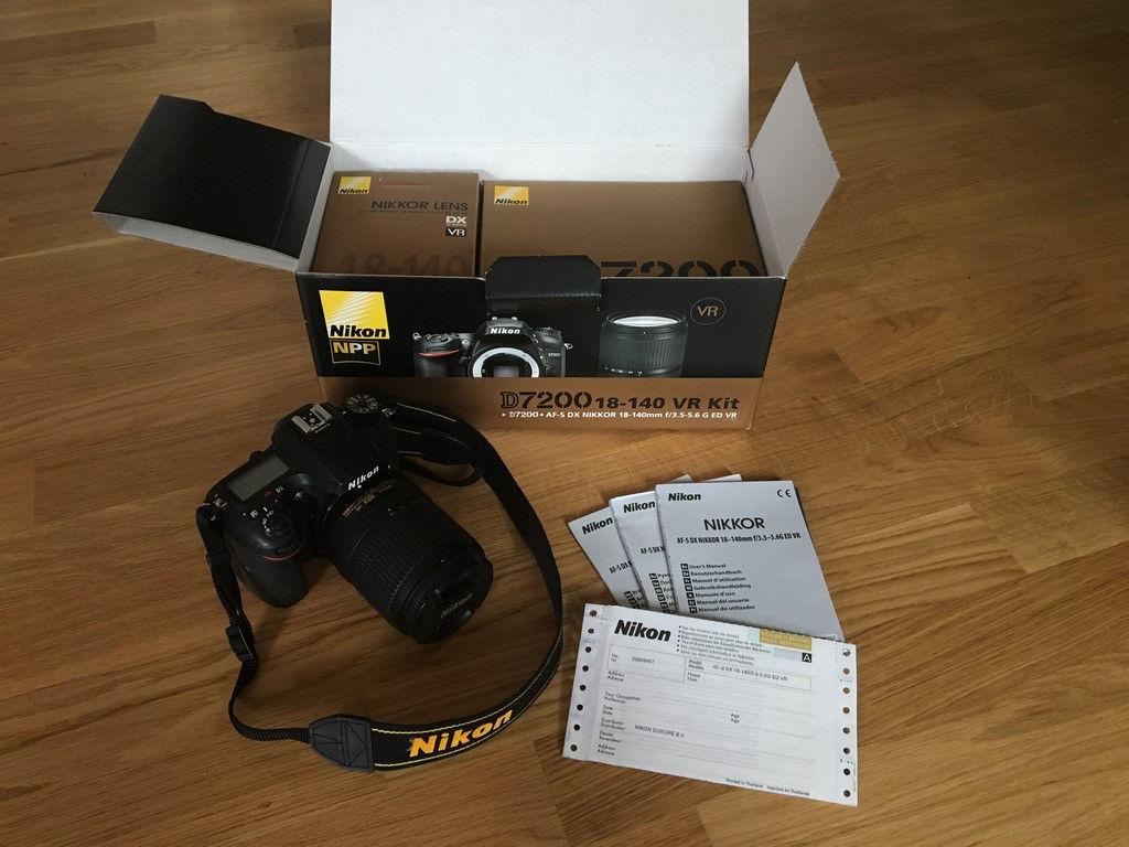 Wieder eingestellt: Nikon D7200 inkl. Objektiv AF-S DX Nikkor 18-140 mm, ORV