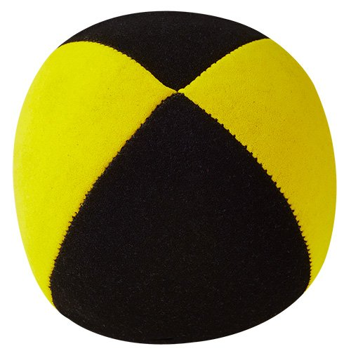 Jonglierball: HENRYS Beanbag Superior (Velours) 67mm, schwarz-gelb