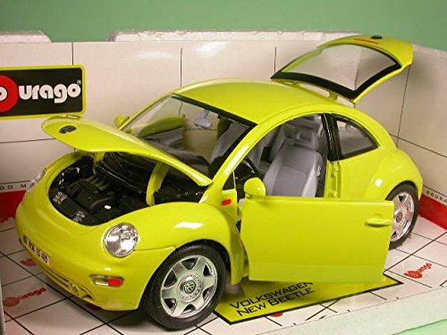 VW New Beetle gelb Bburago 1:18 Modellauto