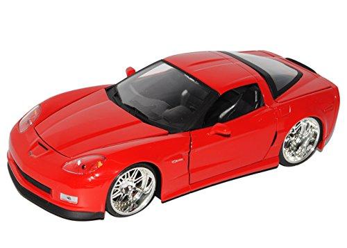 Chevrolet Corvette Chevy Z06 Z 06 Rot Red 2006 1/24 Jada Jadatoys Modellauto Modell Auto