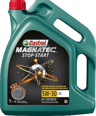 5L Original CASTROL MAGNATEC STOP-START 5W-30 C3 MOTORENÖL 5 Liter ÖL GM dexos2