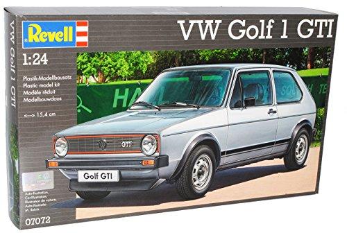 VW Volkswagen Golf I GTI 3 Türer Silber Grau 1974-1983 07072 Bausatz Kit 1/24 Revell Modell Auto
