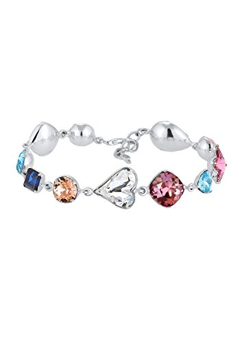 Elli Premium Armband Multi Color Herz Swarovski Kristalle 925 Silber 0201630317