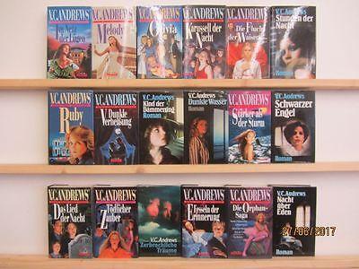 V.C. Andrews 18 Bücher Romane Thriller dramatische Romane mystische Romane