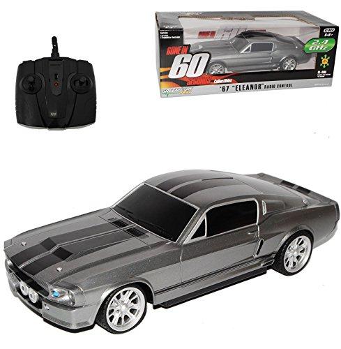 Ford Shelby Mustang GT500 Eleanor Nur Noch 60 Sekunden RC Funkauto 1/18 Greenlight Modell Auto mit individiuellem Wunschkennzeichen
