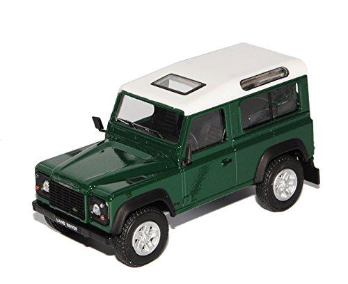 Land Rover Defender 90 3 Türer Dunkel Grün Weisses Dach 1/43 Cararama Modell Auto